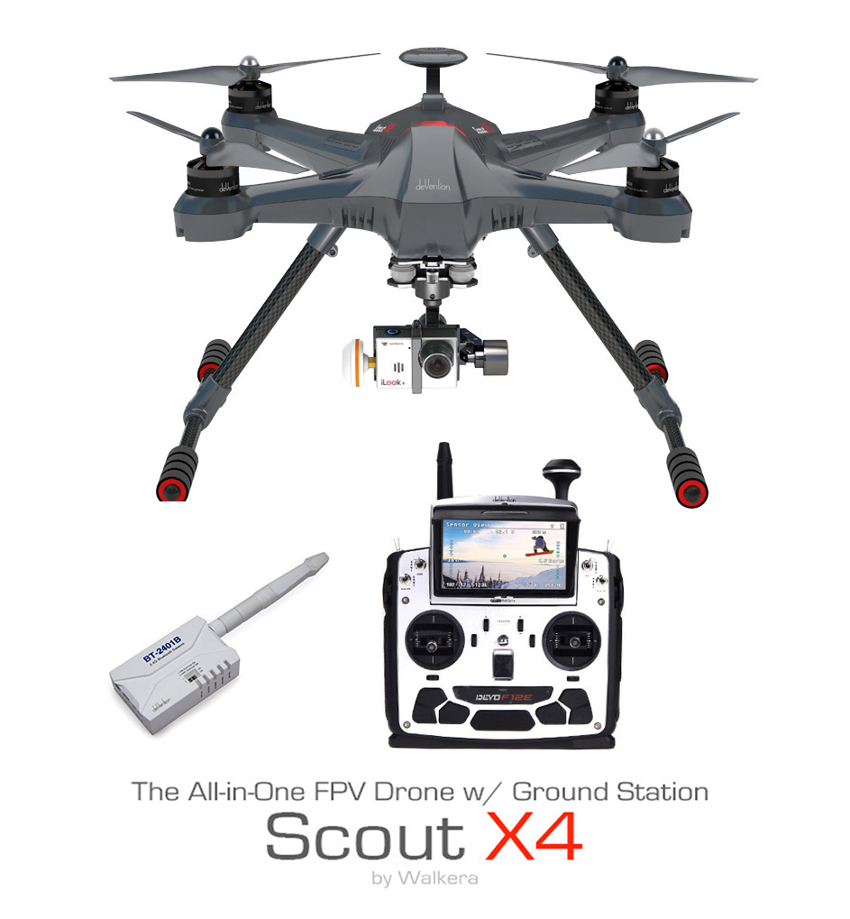 Walkera Scout X4 Aerial Video/Photo Drone (GoPro Compatible)